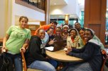 A group of students attending a Wind Down Wednesday event.